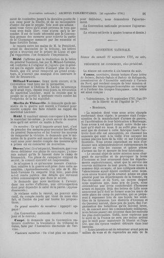 Tome 52 : Du 22 septembre au 26 octobre 1792 - page 91