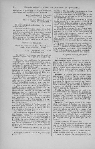 Tome 52 : Du 22 septembre au 26 octobre 1792 - page 92