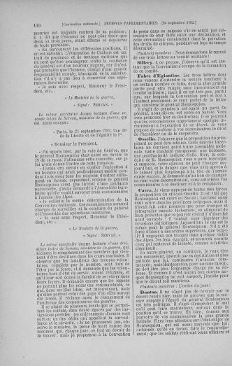 Tome 52 : Du 22 septembre au 26 octobre 1792 - page 116