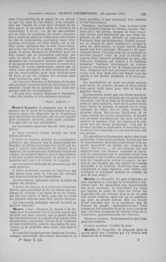 Tome 52 : Du 22 septembre au 26 octobre 1792 - page 129