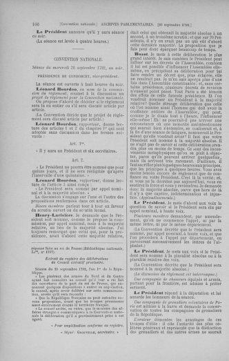 Tome 52 : Du 22 septembre au 26 octobre 1792 - page 166