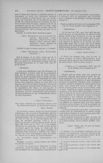 Tome 52 : Du 22 septembre au 26 octobre 1792 - page 170