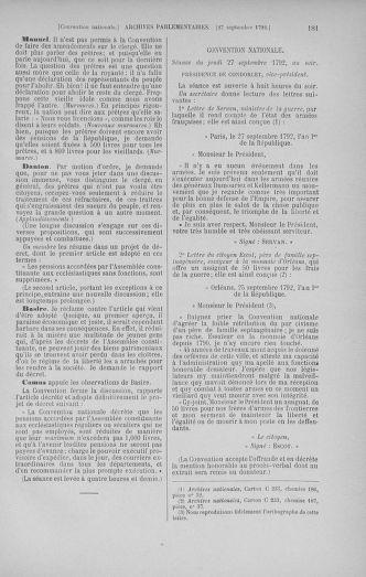 Tome 52 : Du 22 septembre au 26 octobre 1792 - page 181