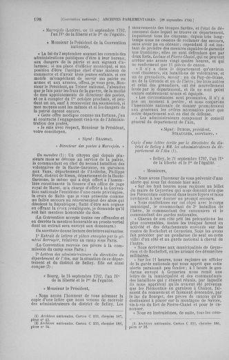 Tome 52 : Du 22 septembre au 26 octobre 1792 - page 198