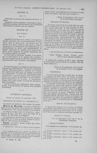Tome 52 : Du 22 septembre au 26 octobre 1792 - page 209