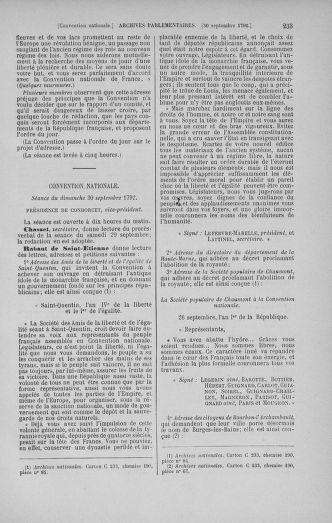 Tome 52 : Du 22 septembre au 26 octobre 1792 - page 233