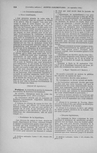 Tome 52 : Du 22 septembre au 26 octobre 1792 - page 234