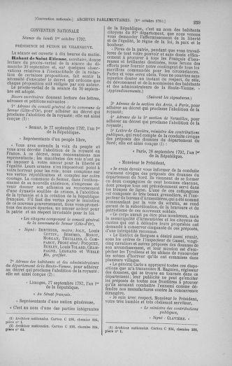 Tome 52 : Du 22 septembre au 26 octobre 1792 - page 259