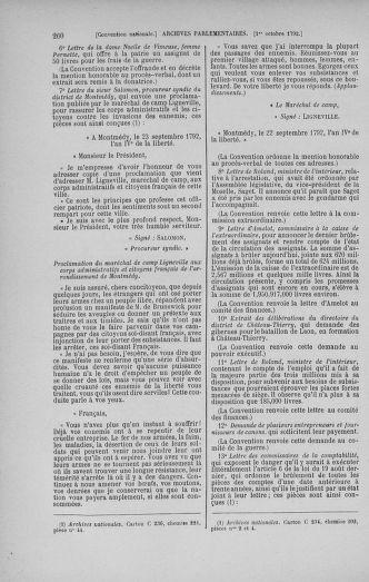 Tome 52 : Du 22 septembre au 26 octobre 1792 - page 260