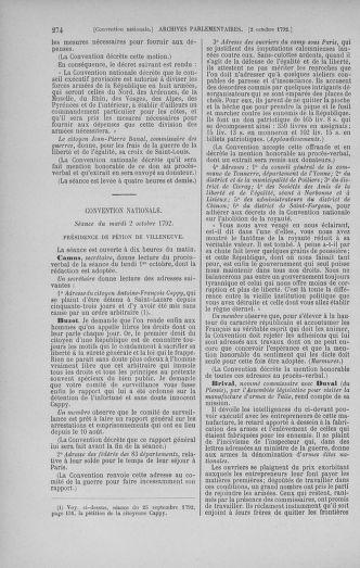 Tome 52 : Du 22 septembre au 26 octobre 1792 - page 274