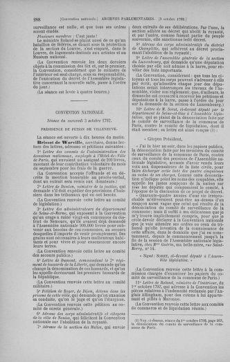 Tome 52 : Du 22 septembre au 26 octobre 1792 - page 288