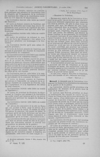 Tome 52 : Du 22 septembre au 26 octobre 1792 - page 289