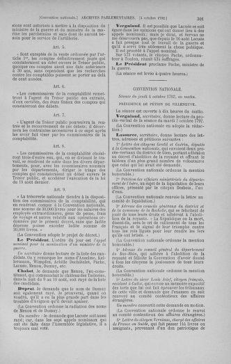 Tome 52 : Du 22 septembre au 26 octobre 1792 - page 301