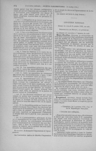 Tome 52 : Du 22 septembre au 26 octobre 1792 - page 374