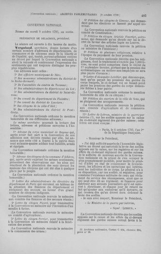 Tome 52 : Du 22 septembre au 26 octobre 1792 - page 405
