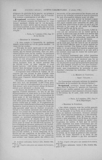Tome 52 : Du 22 septembre au 26 octobre 1792 - page 406