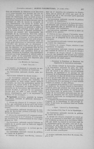 Tome 52 : Du 22 septembre au 26 octobre 1792 - page 407
