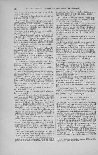 Tome 52 : Du 22 septembre au 26 octobre 1792 - page 450