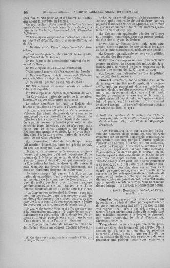 Tome 52 : Du 22 septembre au 26 octobre 1792 - page 464