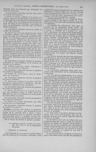 Tome 52 : Du 22 septembre au 26 octobre 1792 - page 477