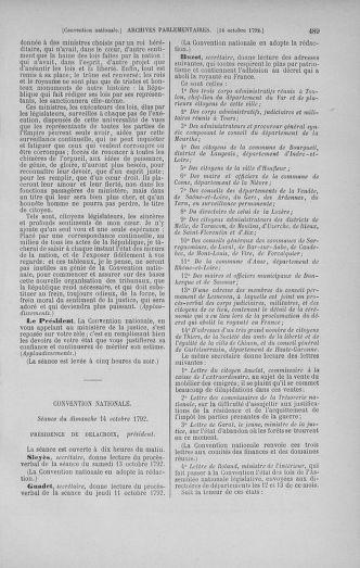 Tome 52 : Du 22 septembre au 26 octobre 1792 - page 489