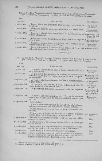 Tome 52 : Du 22 septembre au 26 octobre 1792 - page 490