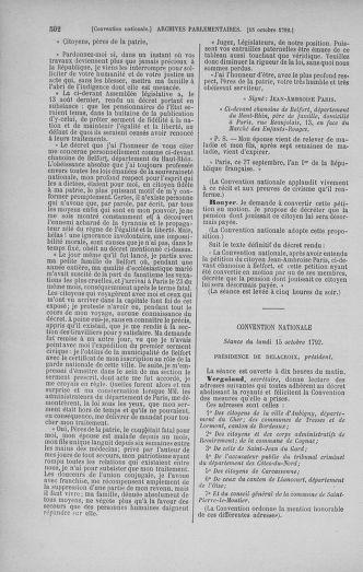 Tome 52 : Du 22 septembre au 26 octobre 1792 - page 502