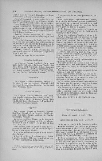 Tome 52 : Du 22 septembre au 26 octobre 1792 - page 518