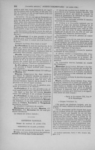 Tome 52 : Du 22 septembre au 26 octobre 1792 - page 568