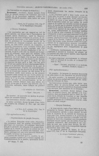 Tome 52 : Du 22 septembre au 26 octobre 1792 - page 609