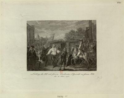 Ludwig der <em>XVI</em> mit seinem Beichvater Edgeworth vor seinem Tode den 21 Jener [sic] <em>1793</em> : [estampe]