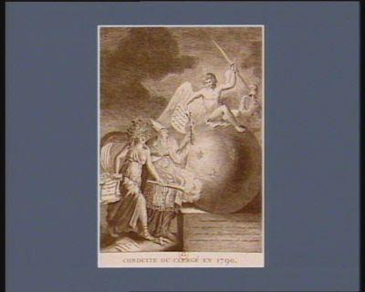 Conduite du clergé en 1790 le Fanatisme armé d'un crucifix amene la Discorde en France... : [estampe]