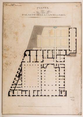 Palazzo della Cancelleria, pianta
