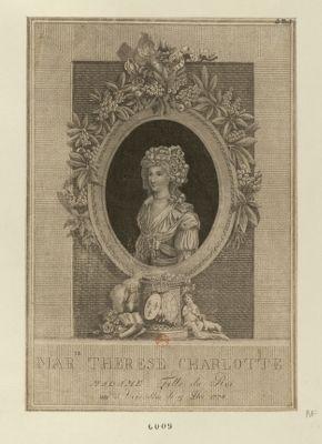 Marie Therese Charlotte Madame fille du Roi née à Versailles le 19 déc. 1778 : [estampe]
