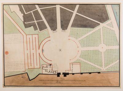 Piazza del Popolo. Pincio, progetto di sistemazione, planimetria