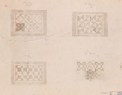 Palatino, motivi di quattro pavimenti a mosaico