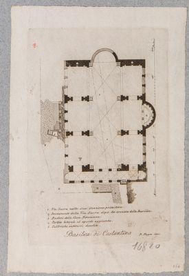 Basilica di Costantino, pianta