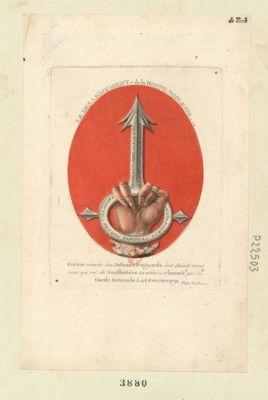 Le  désarmement de la bonne-noblesse forme éxacte des infames poignards dont étoient armés ceux qui ont été souffletées aretés ou chassés par la Garde nationale le 28 février 1791... : [estampe]