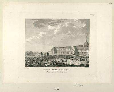 Prise des armes aux Invalides dans la matinée du 14 juillet 1789 : [estampe]