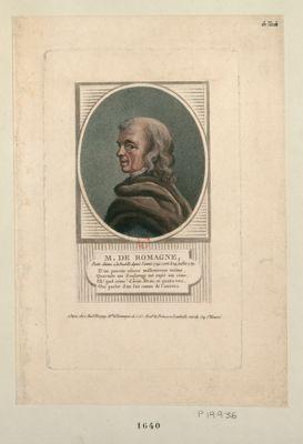 M. de Romagne poëte détenu à la Bastille depuis l'année 1749 ; sorti le 14 juillet <em>1789</em>... : [estampe]