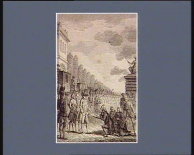 [M. Bailly présentant les clefs de Paris à Louis seize à son arrivée en cette ville] [estampe]