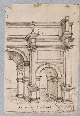 Arco di Settimo Severo, elementi archittetonici