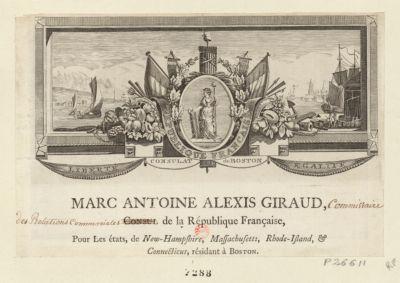 République française liberté, consulat de Boston, égalité... : [estampe]