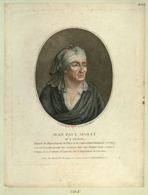 Jean Paul Marat né à Genève, député du département de Paris à la Convention nationale en 1792... : [estampe]