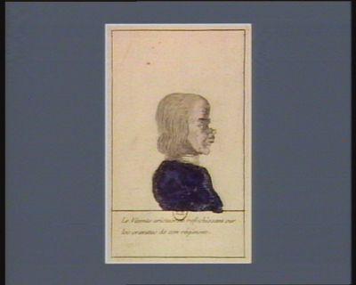 Le  Vicomte aristocrate reflechissant sur les cravattes de son régiment [estampe]