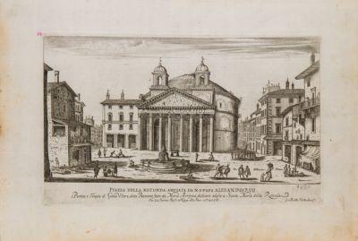 Piazza della Rotonda ampliata da Alessandro VII