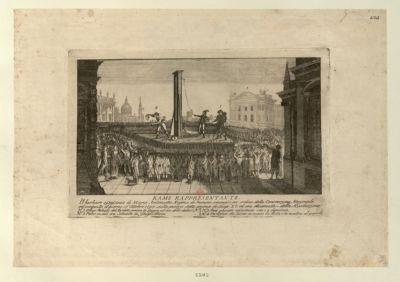 Rame representante il barbara assassinio di Maria Antonietta regina di Francia commesso per ordine della Convenzione nazionale [estampe]