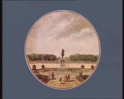 Vue de la place de Louis XV, et du jardin des Thuileries [estampe]