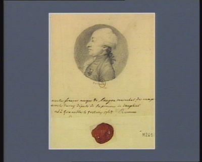 Nicolas François marquis de Langon marechal des camps armés du Roy député de la province du Dauphiné né à Grenobles le 9 mars 1742 : [dessin]