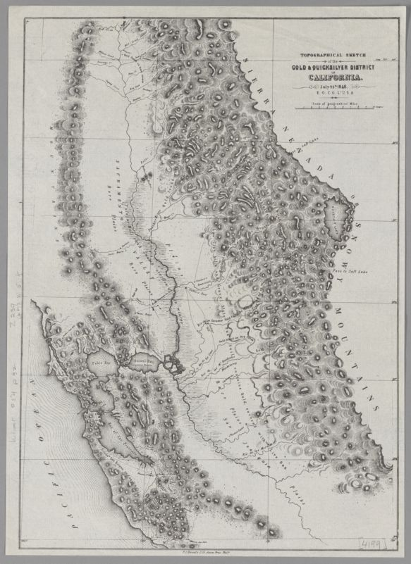 Topographical Sketch of the Gold & Quicksilver Districts of California E. O. C. O. Lt. U.S.A. July 25, 1948